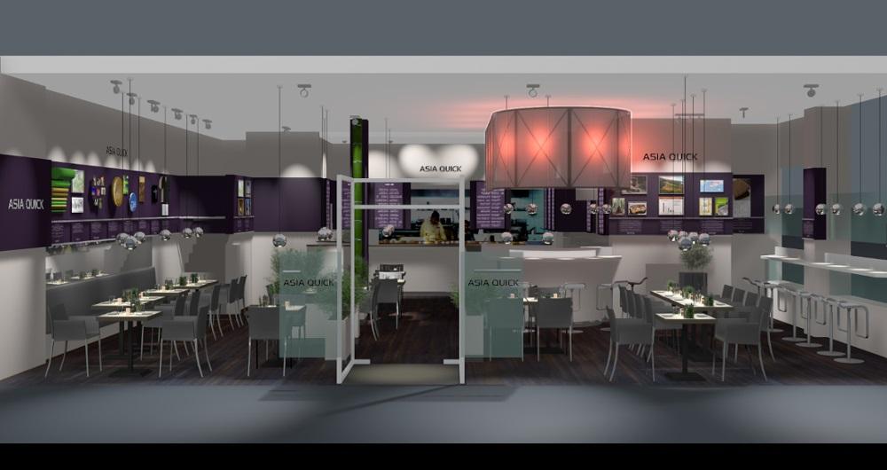 RESTAURANT ASIA QUICK HAMBURG | MODERNISIERUNG Visualisierung Frontansicht: Konzept, Entwurf und Planung