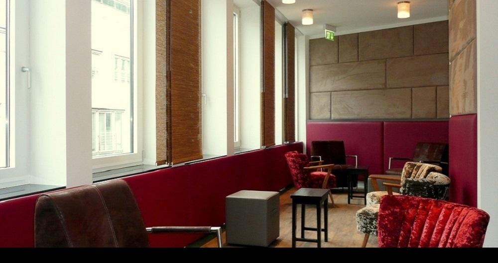 ETHALON GMBH HAMBURG | BÜRO-INNENAUSBAU Lounge: Werkplanung, Ausschreibung, Vergabe und Bauleitung für NH-Architekten