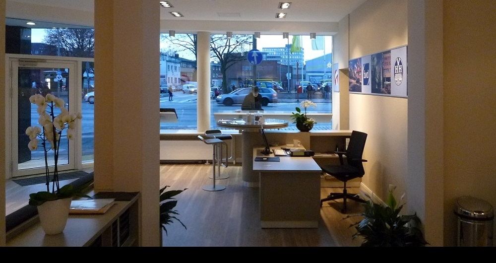 ERNA TIEDGEN AG HAMBURG I BÜRO-INNENAUSBAU Innenausbau Wandsbeker Chaussee: Entwurf, Werkplanung, Ausschreibung, Vergabe und Bauleitung