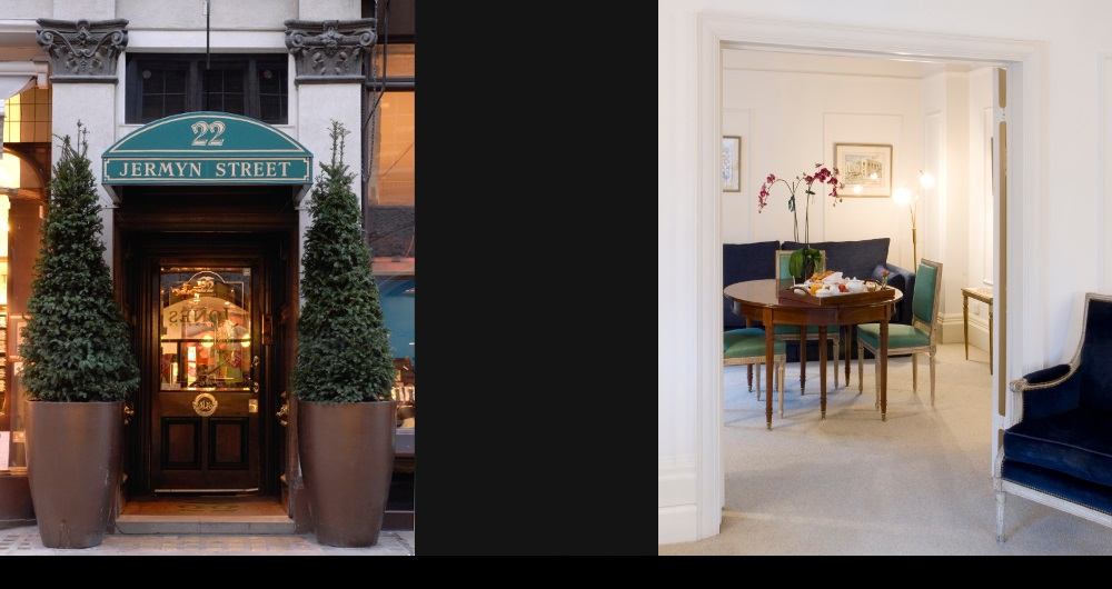 HOTEL JERMYN ST. LONDON | MODERNISIERUNG Fassade (links) und Suite (rechts): Teil-Entwurf und Werkplanung für Designworks Ltd.