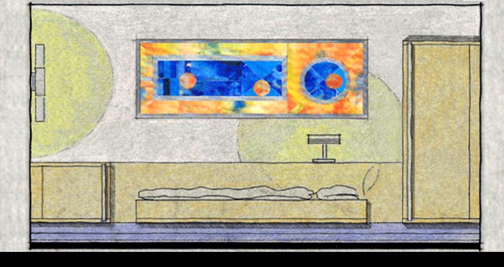 HOTEL SIEDENBURG BREMEN | MODERNISIERUNG Wandansicht eines Hotelzimmers: Entwurf, Werkplanung, Ausschreibung, Vergabe und Bauleitung