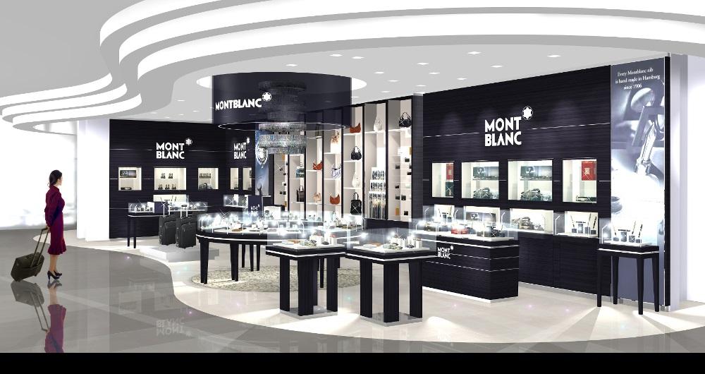 MONTBLANC INTERNATIONAL | SHOP-IN-SHOP Visualisierungen: Flughafen Shop für KB-Konzept