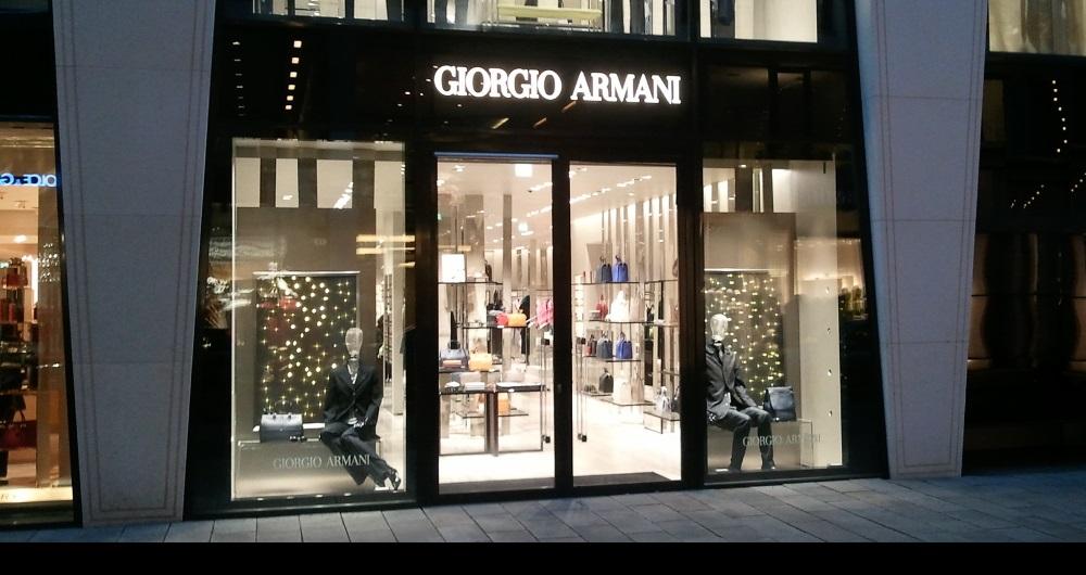 GIORGIO ARMANI | NEUER WALL HAMBURG Frontfassade Erdgeschoss: Projektsteuerung und Baugenehmigungen für AES Bergamo