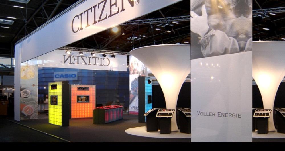 CITIZEN EUROPE INHORGENTA MÜNCHEN | MESSESTAND Präsentation der Produktsegmente: Akquisition und Projektkoordination für SP Messsebau