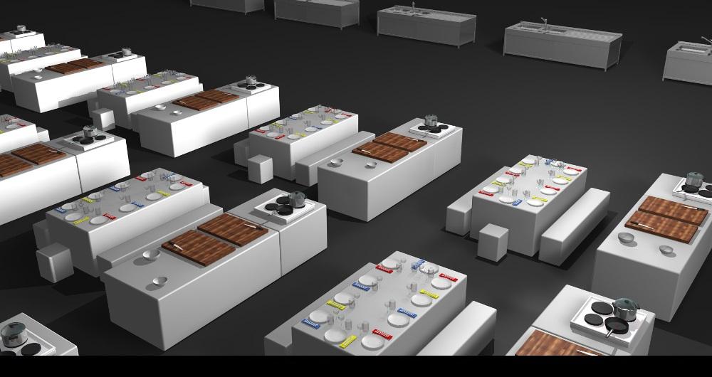 LIVING KITCHEN KÖLN   LIDL EVENT Visualisierung: Detail Koch-Event für Gruner & Jahr events