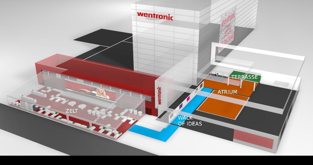 WENTRONIC BRAUNSCHWEIG | HAUSMESSE Visualisierung: Event-Zonen für Brands Alive Hamburg